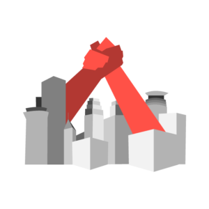 CTUL Logo: Two hands emerging from the Minneapolis skyline and clasping.