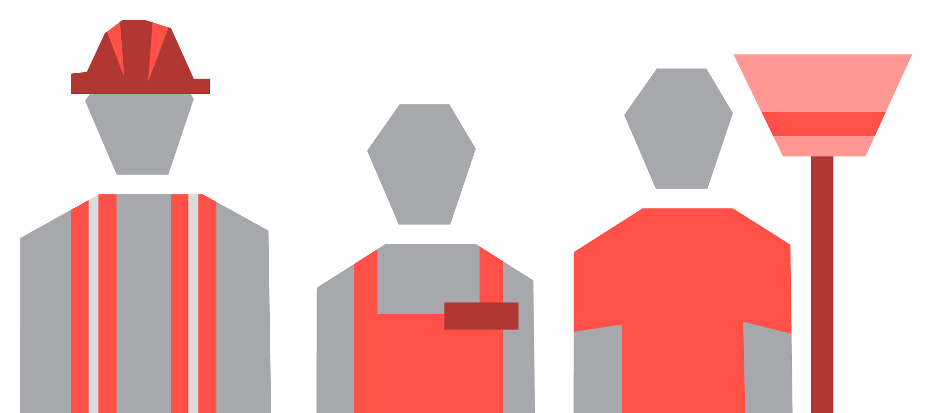 An illustration of some workers