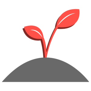 An illustration of a sprout growing out of the ground.